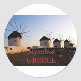 ΜΥΚΟΝΟS CLASSIC ROUND STICKER