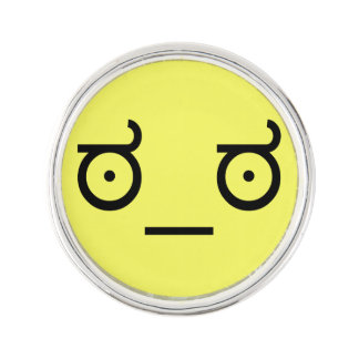 ಠ_ಠ Look of Disapproval ASCCI Emoticon Text Art Lapel Pin