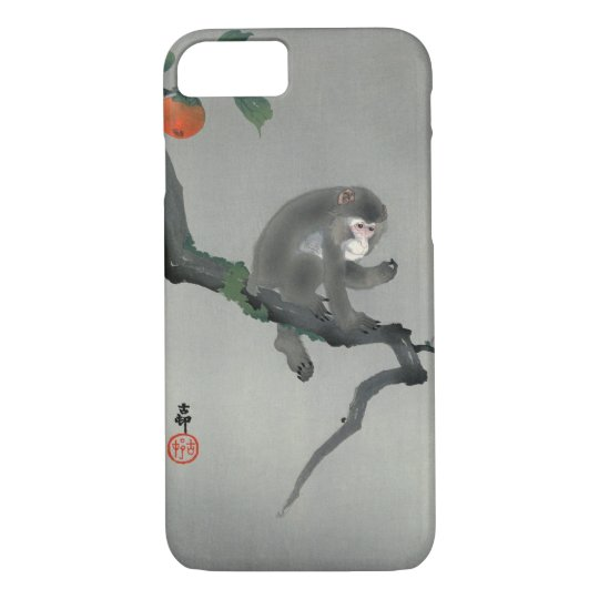 柿に猿, 古邨 Monkey on Persimmon tree, Ohara Koson iPhone 8/7 Case