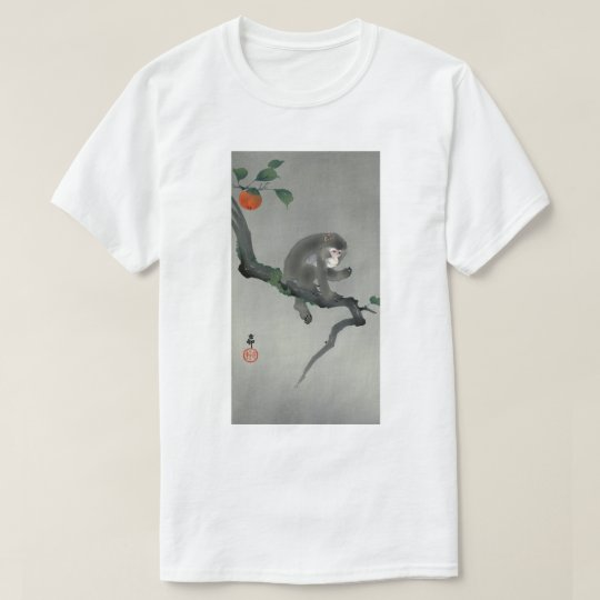 柿に猿, 古邨 Monkey on Persimmon tree, Ohara Koson T-Shirt