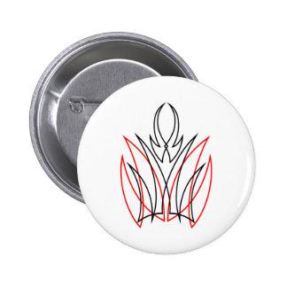0001 Pinstripe 6 Cm Round Badge