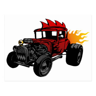 00073 Hot Rod Postcard