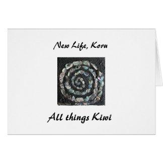 028, New Life, Koru, All things Kiwi Card