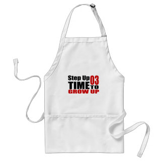 03 Time  To Grow Up Birthday Designs Standard Apron