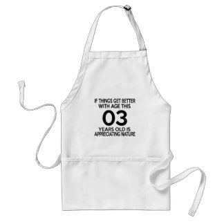 03 years old is appreciating nature standard apron