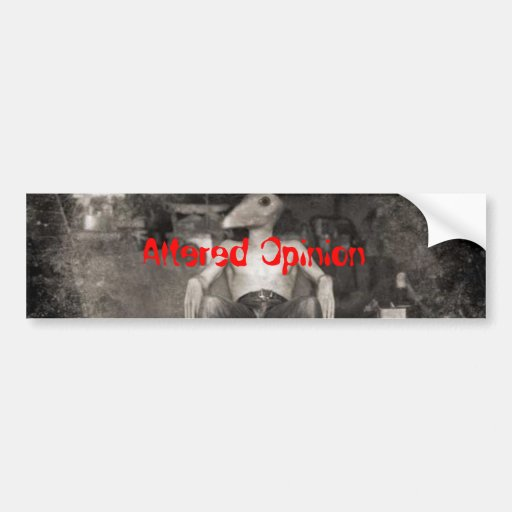 040-hurt, Altered Opinion Bumper Stickers