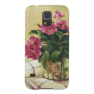 0511 African Violets in Mosaic Planter Galaxy S5 Cover