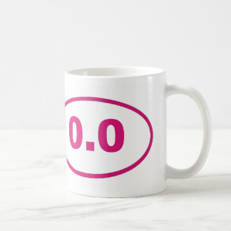 0.0 Pink Magenta Coffee Mug