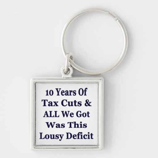 !0 Years of The Bush Tax Cuts for the Wealthy Key Chains
