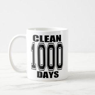 1000 Days Clean Black Mug