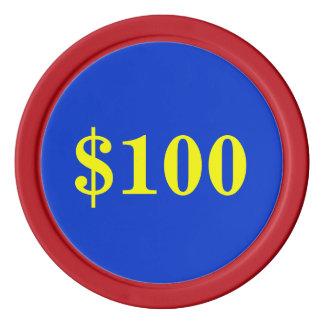 $100.00 RAT POKER CHIPS
