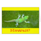 100% Certified Organic Kona Coffee Day~Gecko card