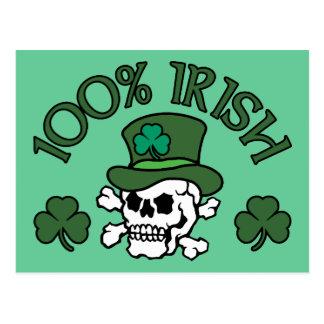 100% Irish Postcard