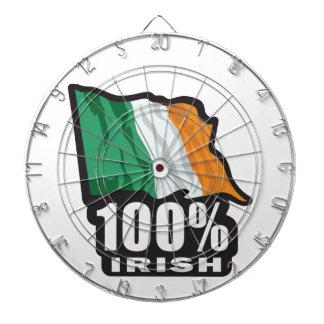 100% Irish Proud to Be Irish Dartboard