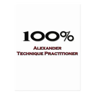 100 Percent Alexander Technique Practitioner Postcard