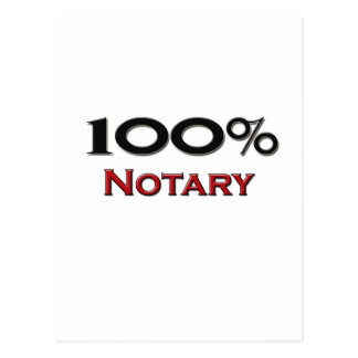 100 Percent Notary Postcards