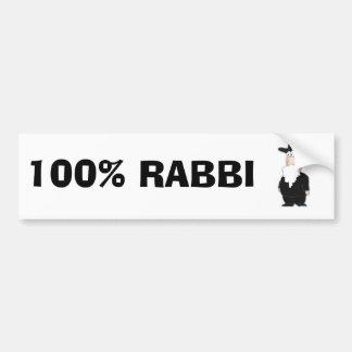 100%  Rabbi bumper sticker