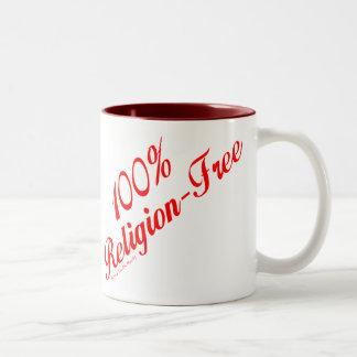 100% Religion-Free Two-Tone Coffee Mug