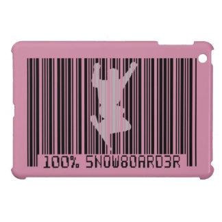 100% SNOWBOARDER 2 black barcode Case For The iPad Mini