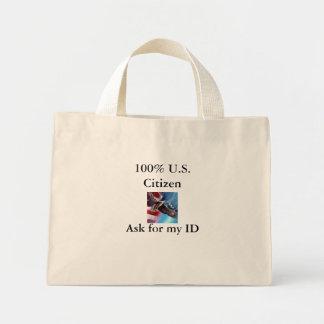 100% US Citizen Purse Mini Tote Bag