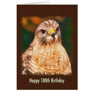 100th Birthday, Red-shouldered Hawk Card