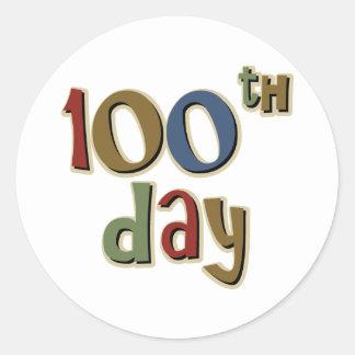 100th Day Classic Round Sticker