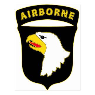 101st Airborne Div Combat Service Badge Postcard