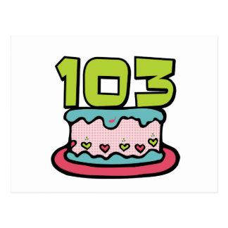 103 Year Old Birthday Cake Postcard