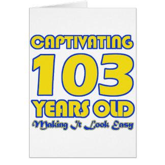 103 YEARS OLD BIRTHDAY DESIGNS CARD