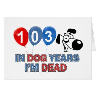 103rd birthday designs card