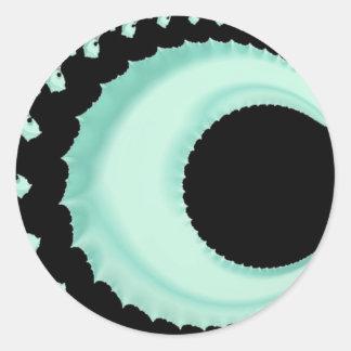 108-48 pale green crescent moon round sticker