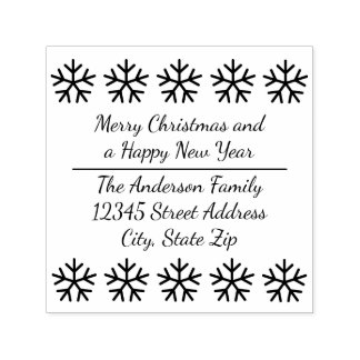 10 Snowflakes - Square Self Inking Stamp