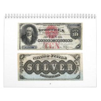 $10 U.S. Banknote Silver Certificate 1878 Calendars