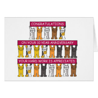 10 year Anniversary for employee. Card