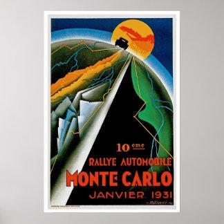 10th Automobile Rally de Monte Carlo Poster