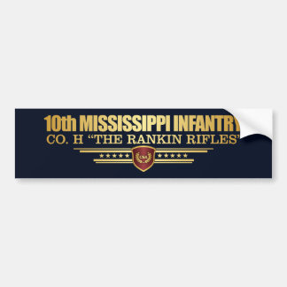 10th Mississippi Infantry Bumper Sticker