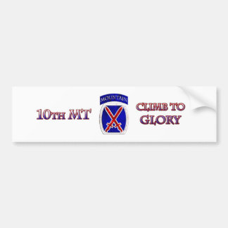 10th Mountain Division Car Bumper Sticker