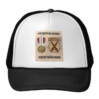 10th Mountain Division Operation Enduring Freedom Cap
