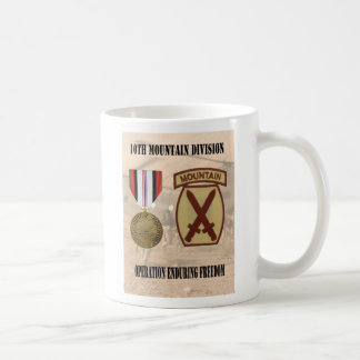 10th Mountain Division Operation Enduring Freedom Classic White Coffee Mug