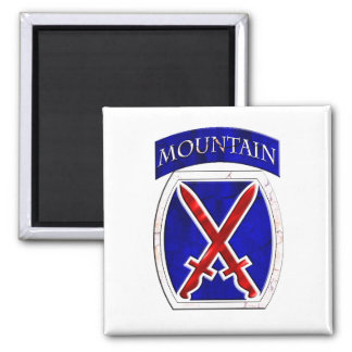 10th Mountain Division Square Magnet