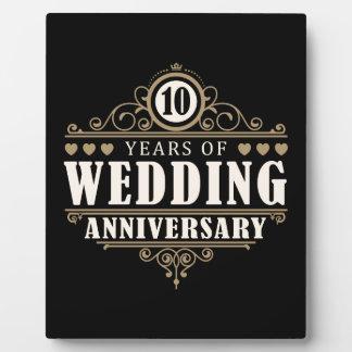 10th Wedding Anniversary Display Plaques