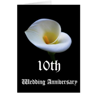 10th wedding anniversary greeting card