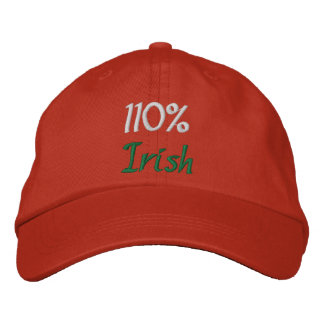 110% Irish Embroidered Baseball Caps