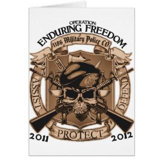 1186 MP Enduring Freedom Greeting Card