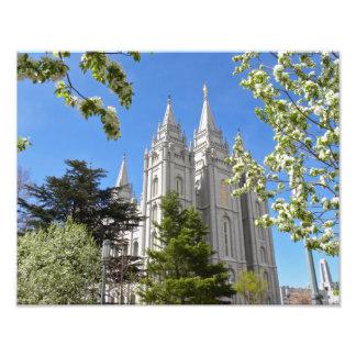 "11"" X 14"" Salt Lake City Temple in Spring. Photo Print"