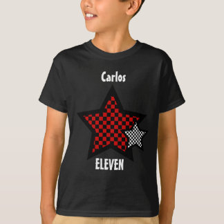 11th Birthday Boy CHECKED Star Custom Name V25 T-Shirt