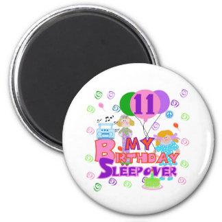 11th Birthday Sleepover 6 Cm Round Magnet