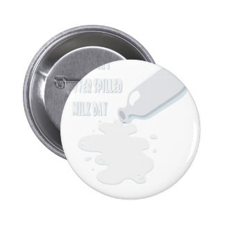 11th February - Don't Cry Over Spilled Milk Day 6 Cm Round Badge