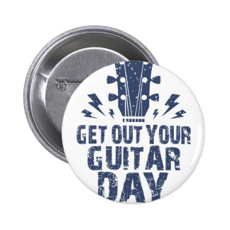 11th February - Get Out Your Guitar Day 6 Cm Round Badge
