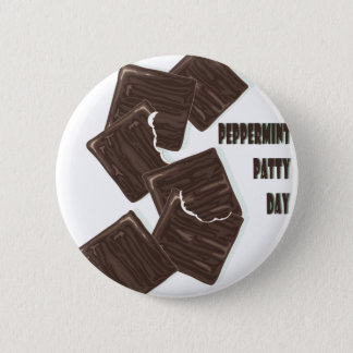 11th February - Peppermint Patty Day 6 Cm Round Badge